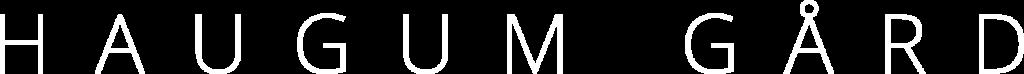 haugum gård logo hvit